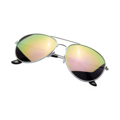 """Óculos sol com lentes espelhadas coloridas """"Aviator"""""""