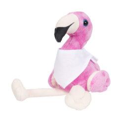"""Flamingo pelúcia com bandana personalizável com a marca """"Flamo"""""""