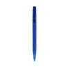Caneta translúcida tinta azul