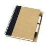 Bloco notas papel reciclado com caneta