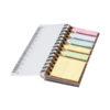 Bloco notas com notas asivas coloridas