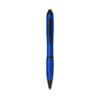 Esferográfica stylus com pega colorida