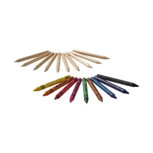 "Conjunto 19 lápis cor e lápis cera ""Lucky"""