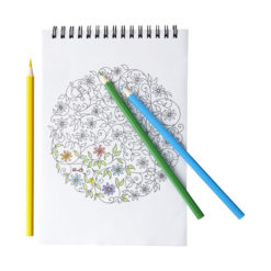 """Conjunto colorir com bloco notas """"Clau"""""""