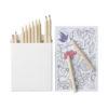 Conjunto 22 lápis cor e papel colorir