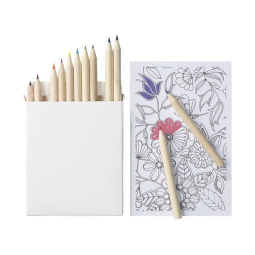 """Conjunto 22 lápis cor e papel colorir """"Doris"""""""