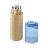 Conjunto 12 lápis cor com afiaira