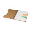 Carno A5 papel reciclado com régua e notas asivas