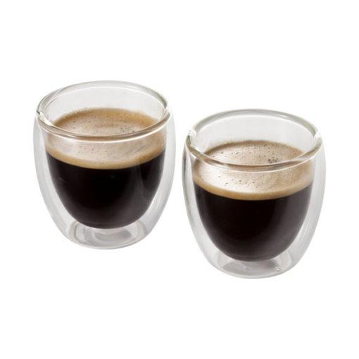 """Conjunto café expresso 2 peças em vidro """"Boda"""""""