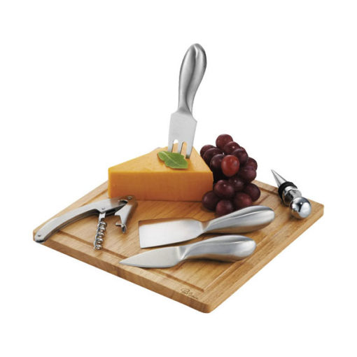 """Conjunto vinho e queijo 6 peças """"Mino"""""""