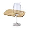 Tábua aperitivos com suporte para copo vinho maira