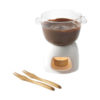 Conjunto fondue chocolate vidro