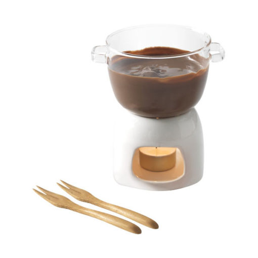 "Conjunto fondue chocolate vidro ""Belgium"""