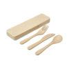 Conjunto talheres fibra bambu