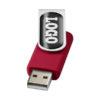 """Pen USB gota resina 2GB """"Rotate"""" - vermelho"""