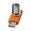 "Pen USB gota resina 2GB ""Rotate"" - laranja"