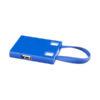 Hub USB e cabos 3 em 1 - azul