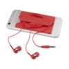 Auriculares e carteira telemóvel silicone