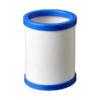 Porta-canetas cartão redondo com bordo plástico va - azul