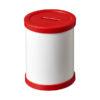 Porta-canetas cartão redondo com bordo plástico va - vermelho