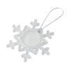 """Ornamento em forma floco neve """"Elssa"""" - transparente"""