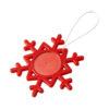 """Ornamento em forma floco neve """"Elssa"""" - vermelho"""
