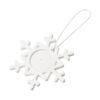 """Ornamento em forma floco neve """"Elssa"""" - branco"""