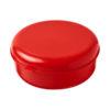 """Caixa hermética redonda em plástico massa """"Miku"""" - vermelho"""