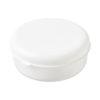 """Caixa hermética redonda em plástico massa """"Miku"""" - branco"""
