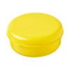 """Caixa hermética redonda em plástico massa """"Miku"""" - amarelo"""