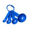 """Conjunto medidores em plástico com 4 tamanhos """"Ness"""" - azul"""