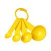 """Conjunto medidores em plástico com 4 tamanhos """"Ness"""" - amarelo"""