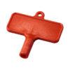 """Chave radiador em plástico """"Largo"""" - vermelho"""