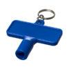 Porta-chaves multi-ferramentas retangular Maximilian - azul