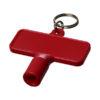 Porta-chaves multi-ferramentas retangular Maximilian - vermelho