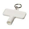 Porta-chaves multi-ferramentas retangular Maximilian - branco