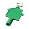 Chave caixas contador em forma casa com porta-chaves